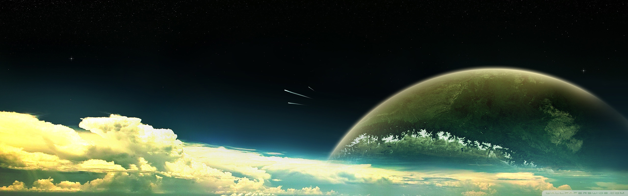 Space Panorama Wallpaper