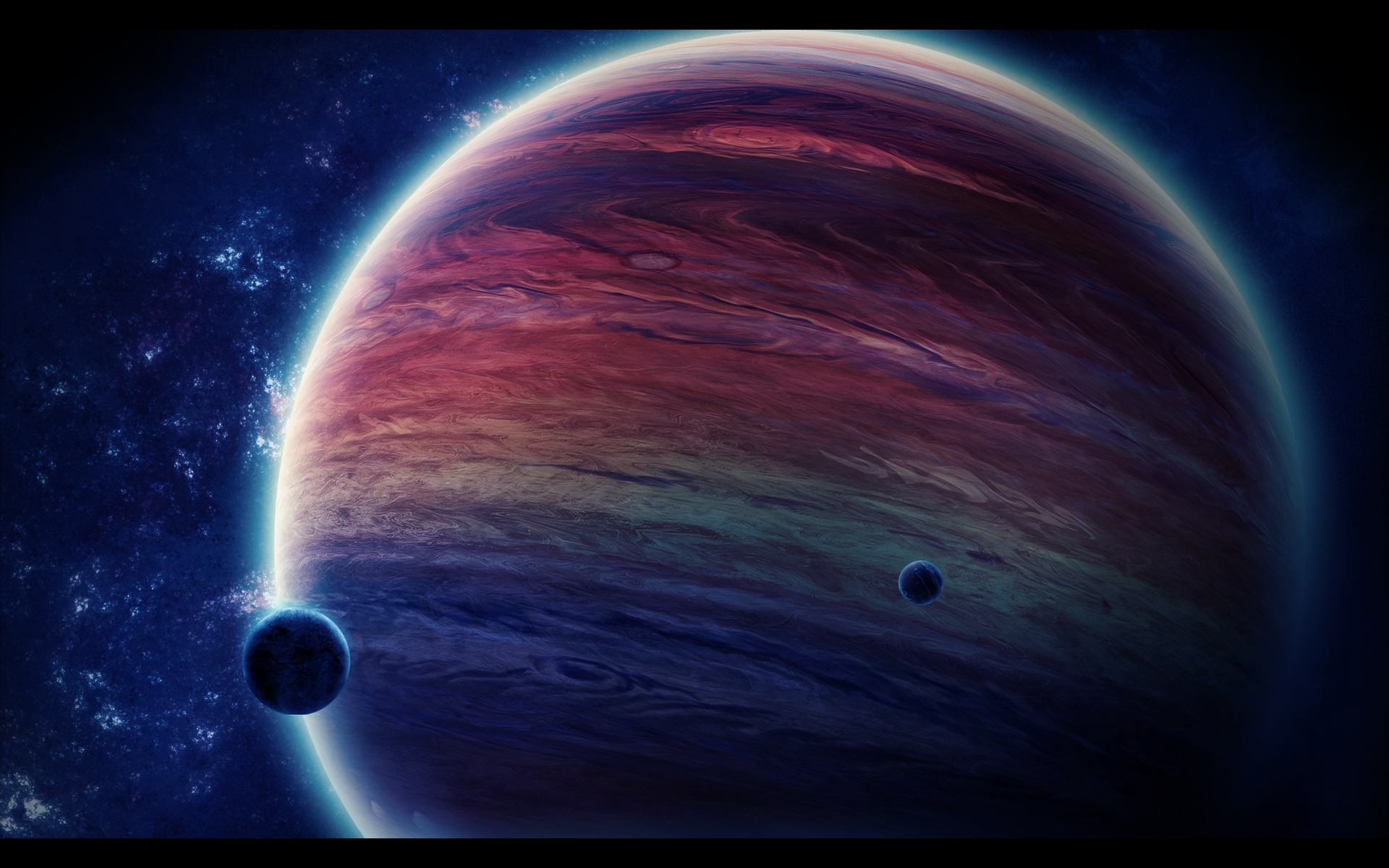 Space Planets Sci-Fi Art