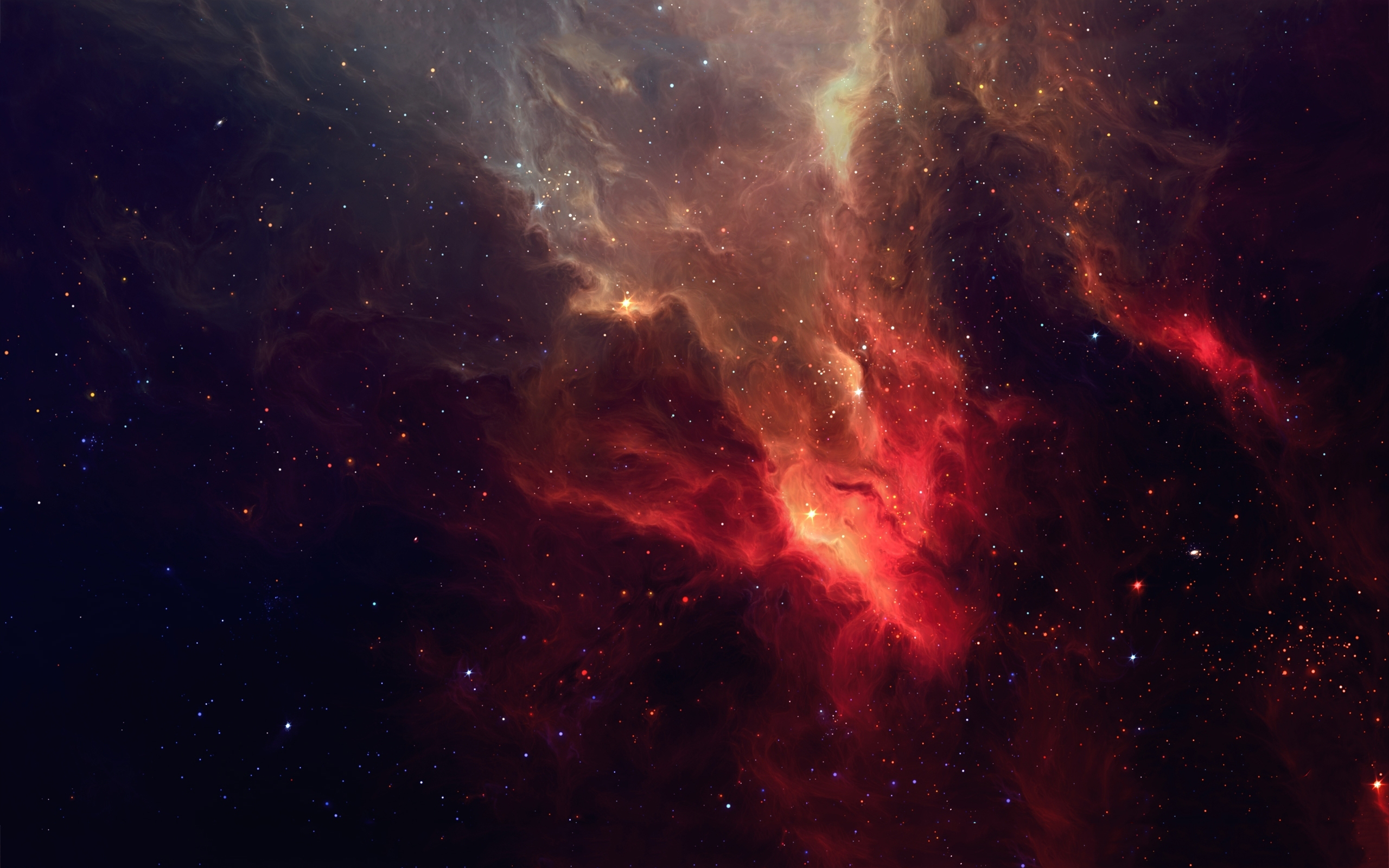Space red nebulae