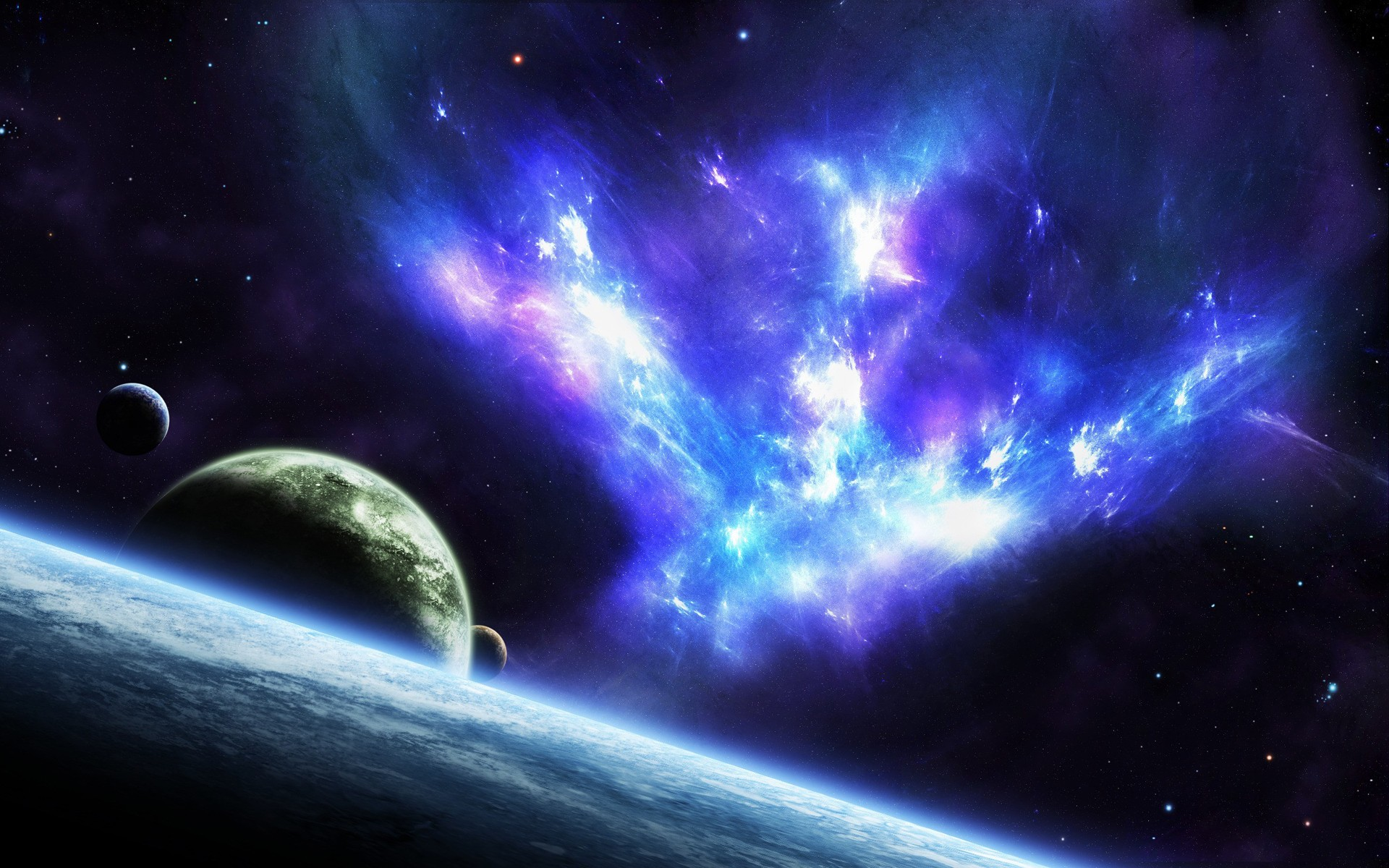 Space stars planets wallpaper 1920x1200 34666 for Outer space planets