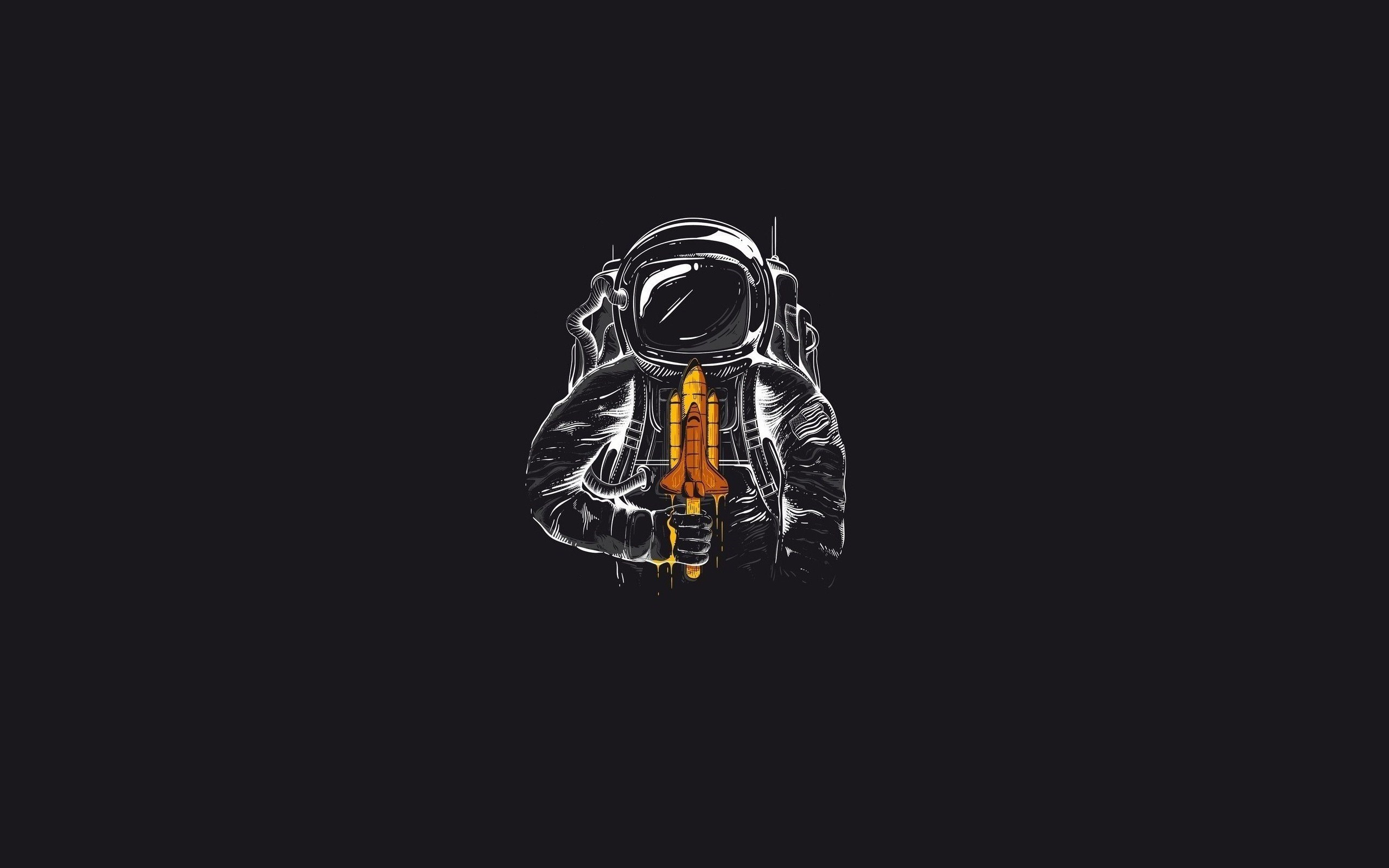 Spaceman Spaceship Art