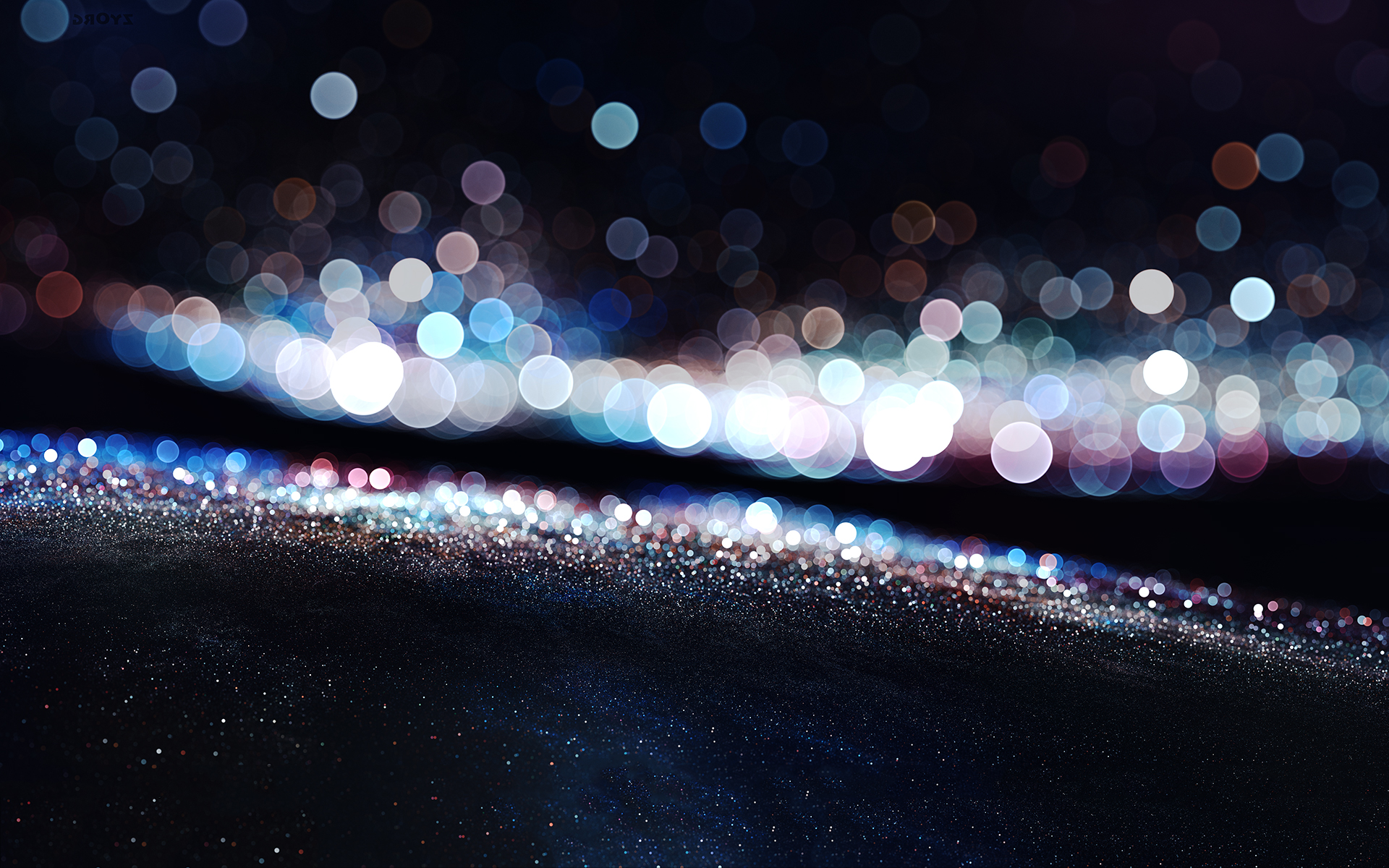 Sparkling city lights