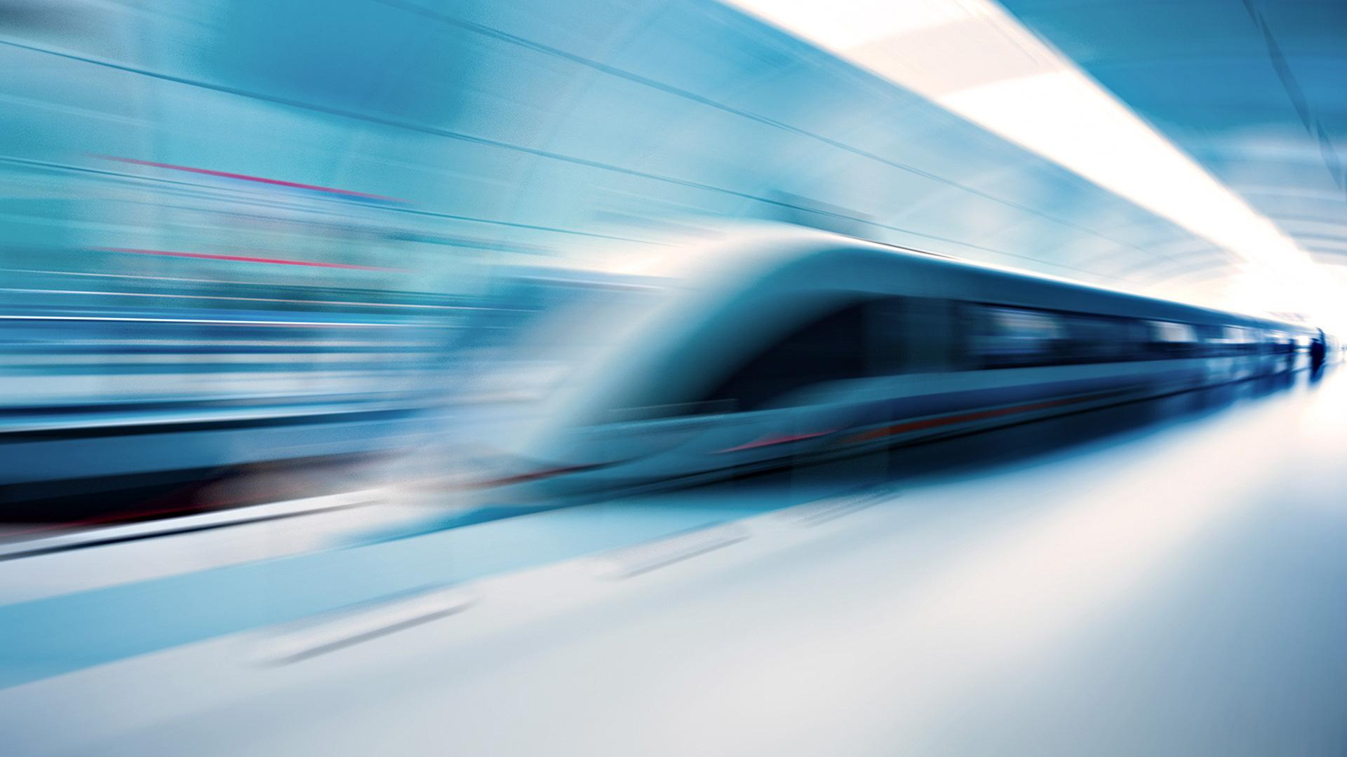 Download Train Speed Blur wallpaper