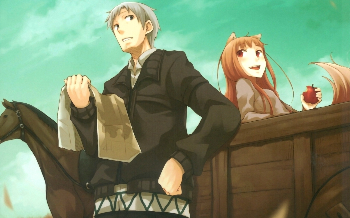 Download 1440x3120 Spice And Wolf Holo Lawrence Kraft Holo
