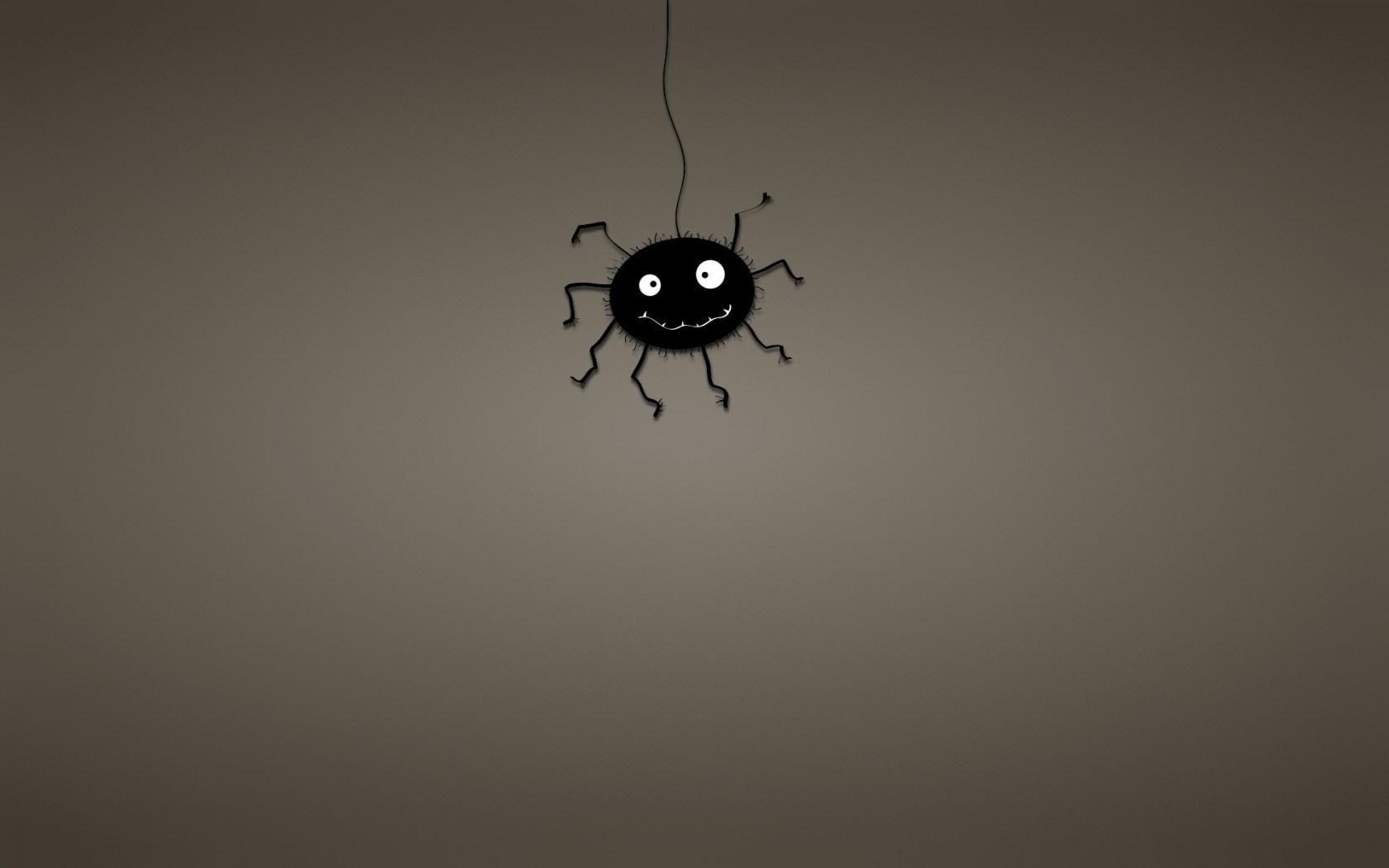 Spider Web Black Minimalism Art