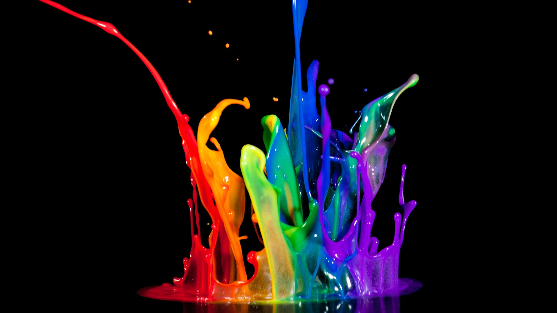 Large Splash Abstract 3D Wallpapers
