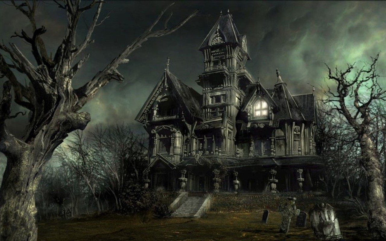 Spooky House Wallpaper 15519