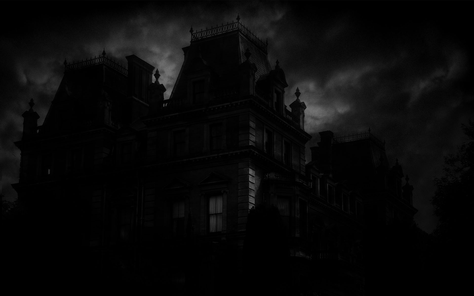 Spooky Mansion Wallpaper 1920x1200