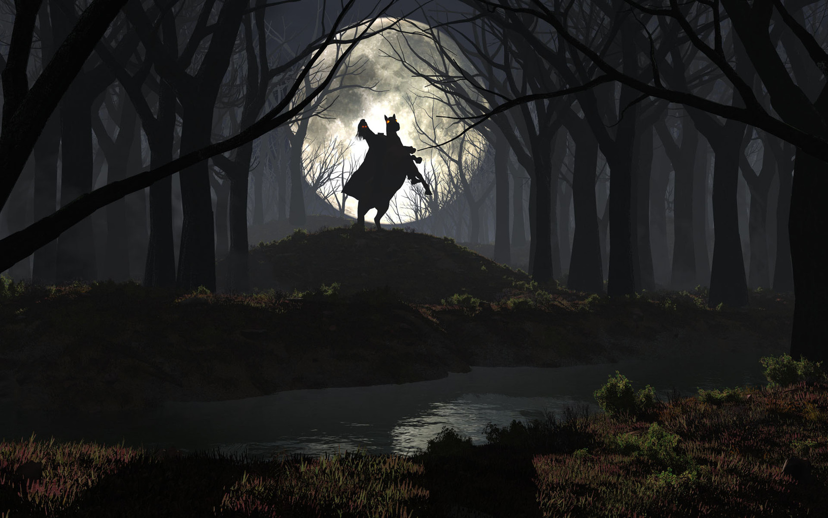 ... in the spooky forest 1680x1050 wallpaper ...