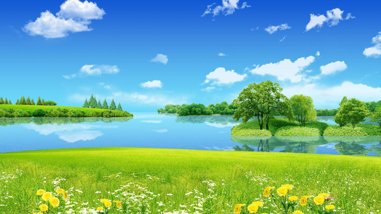 spring landscape full wallpapers for desktop free