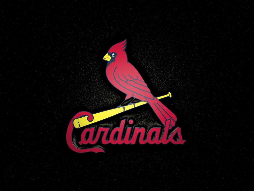 St Louis Cardinals-bird on bat Wallpaper