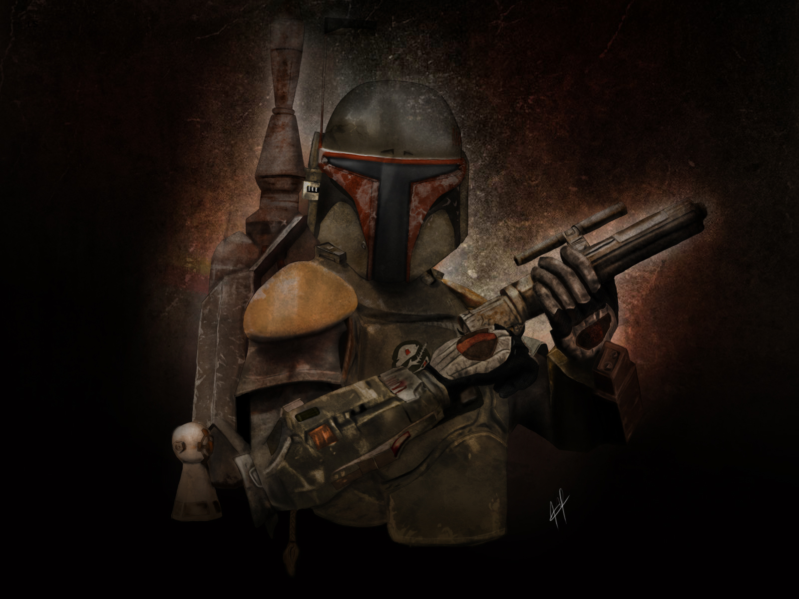 Star Wars Boba Fett Artwork