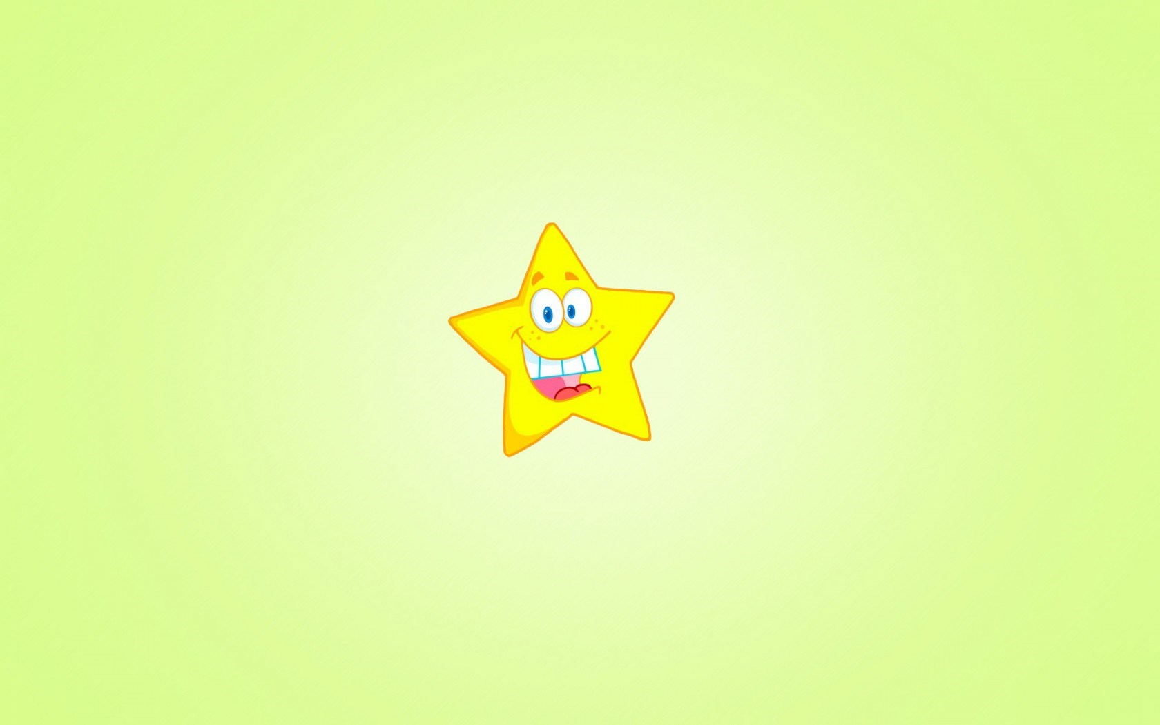Star Yellow Smile Minimalism