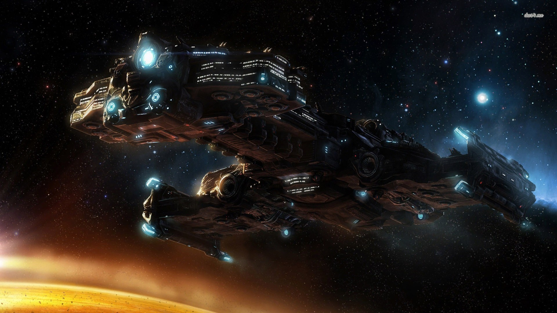 Hyperion Starcraft Ii Game Wallpaper Px Free Download 1920x1080px