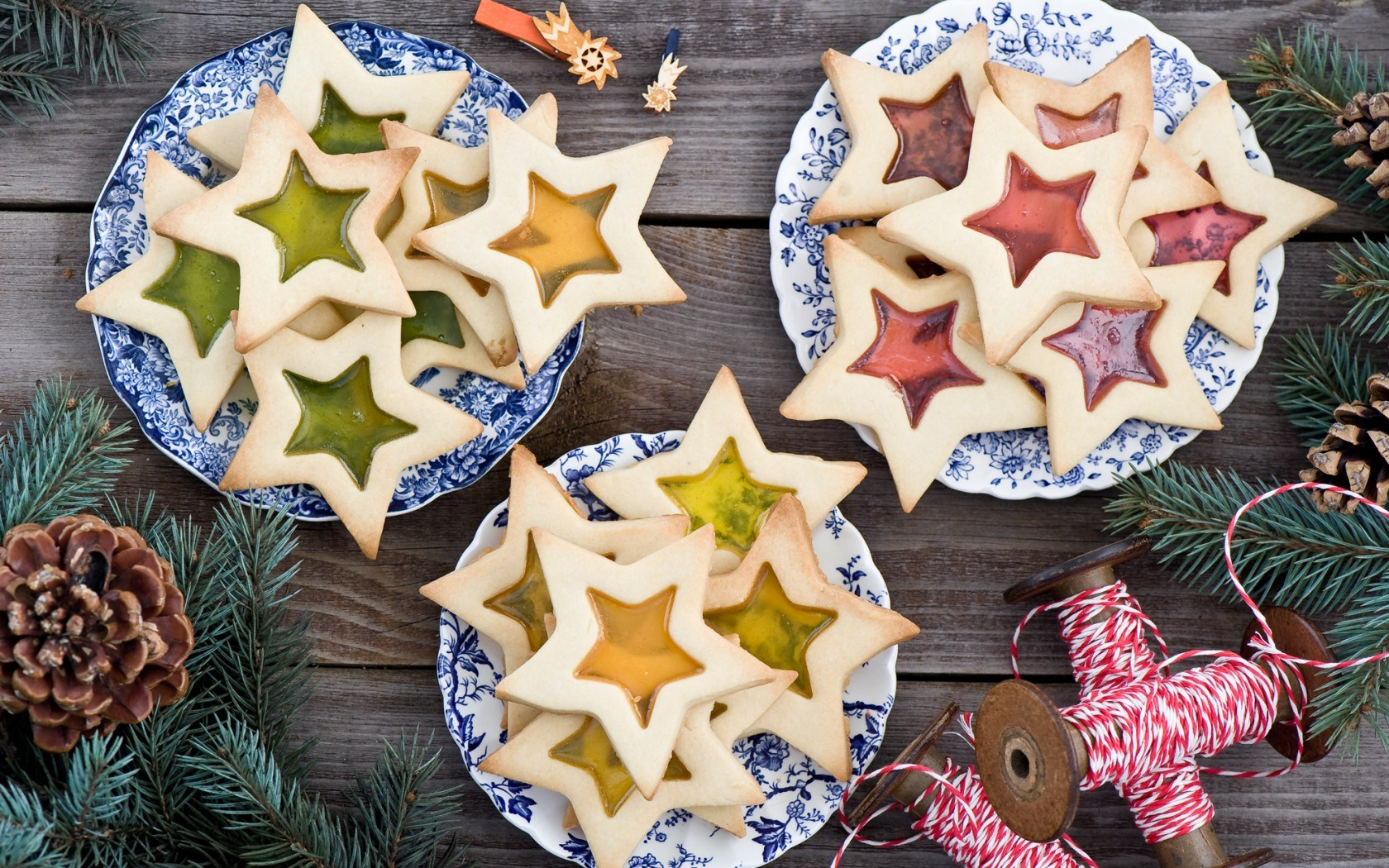 Stars Cookies Pastries Food Dessert Christmas New Year