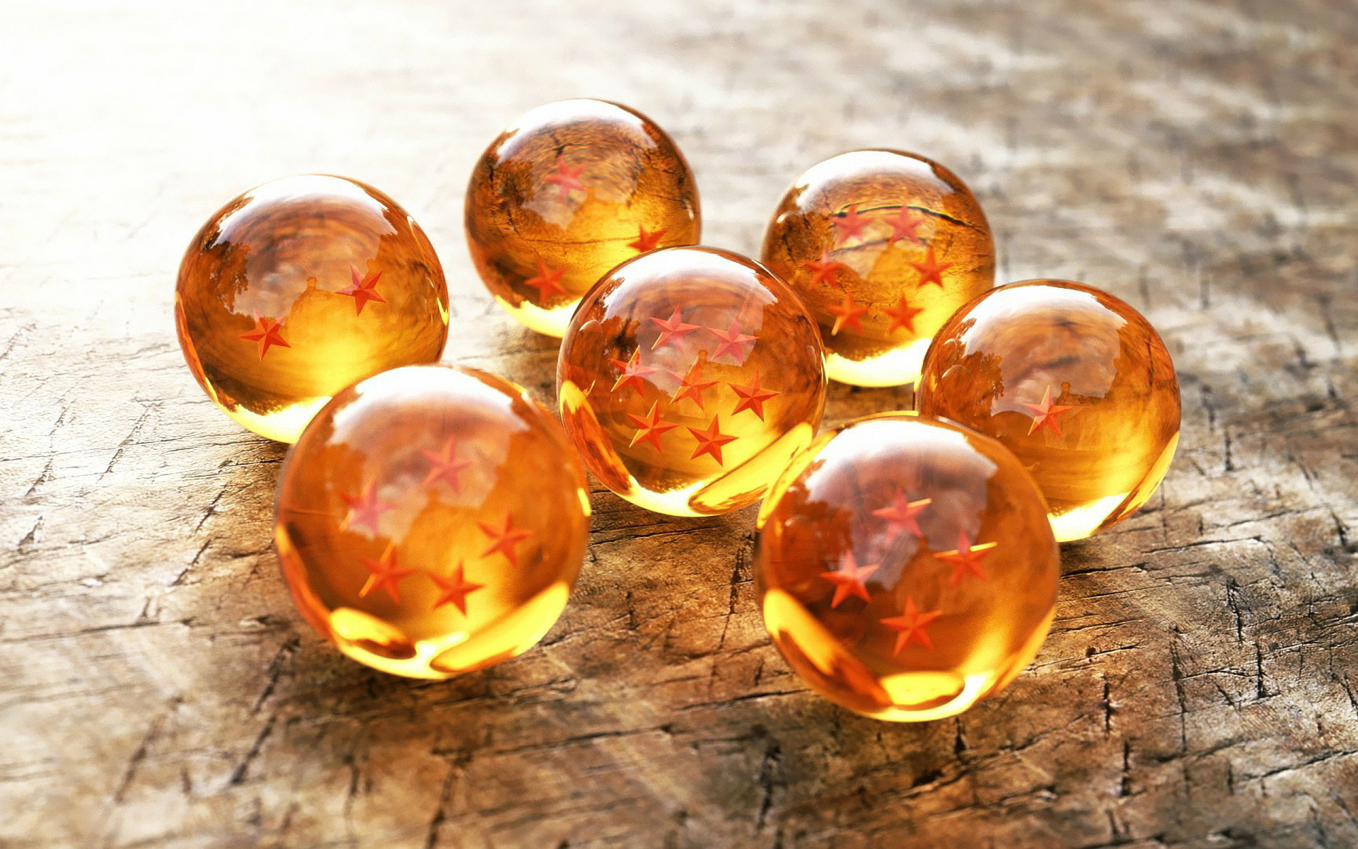 Stars glass spheres