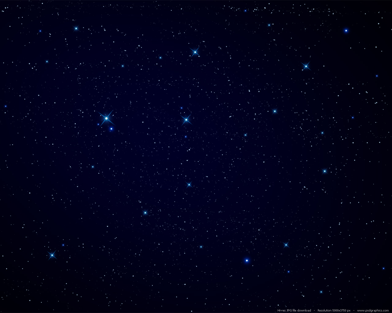 Large preview (1280x1024px): Night sky stars