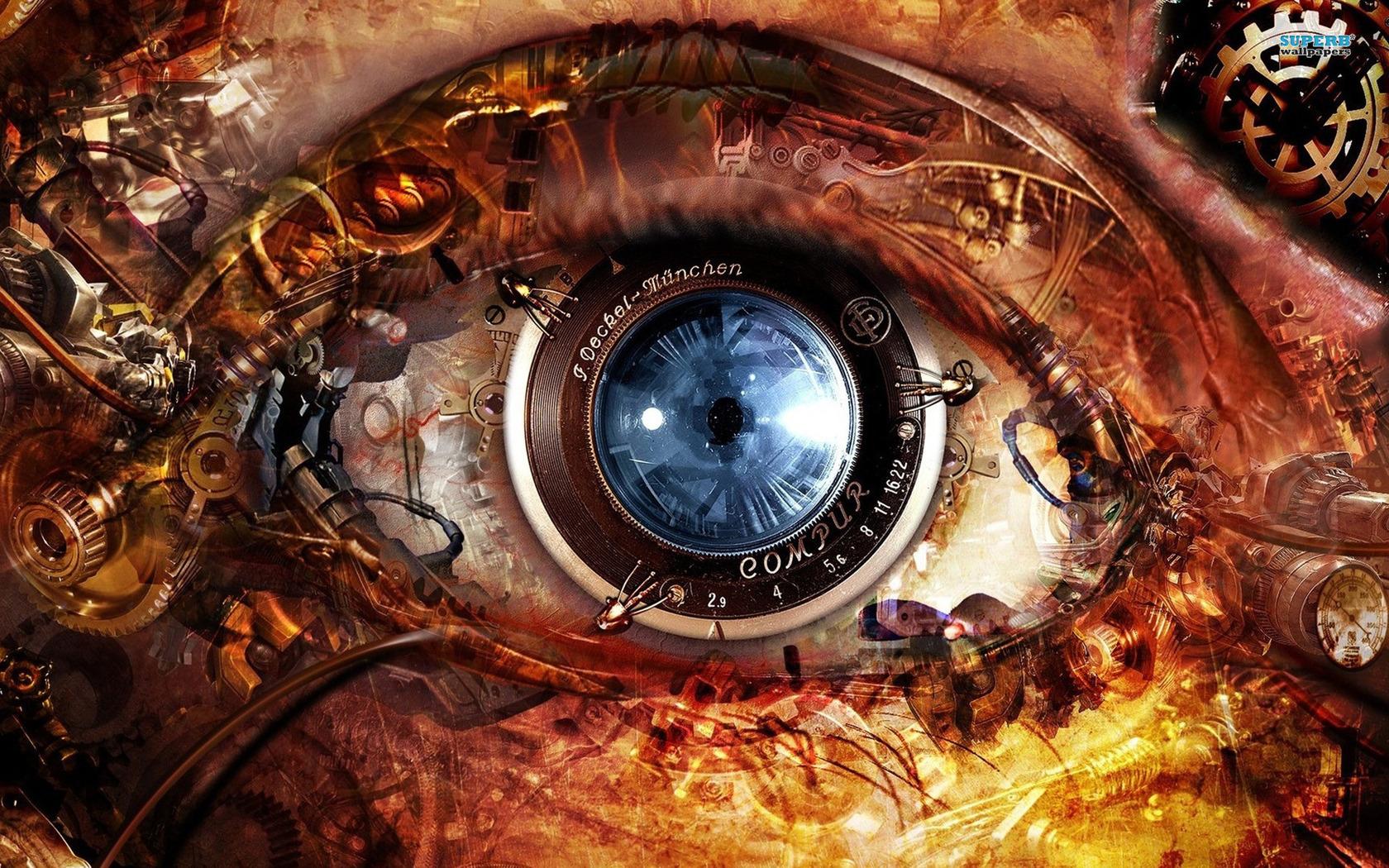 Steampunk Eye wallpaper 1680x1050
