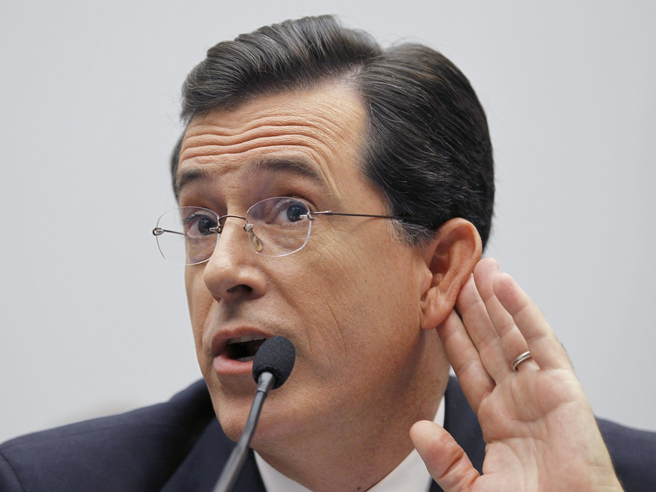 EnlargeComedian Stephen Colbert, host of the Colbert Report, testifies on Capitol Hill in Washington, Friday, Sept. 24, 2010, before the House Immigration, ...