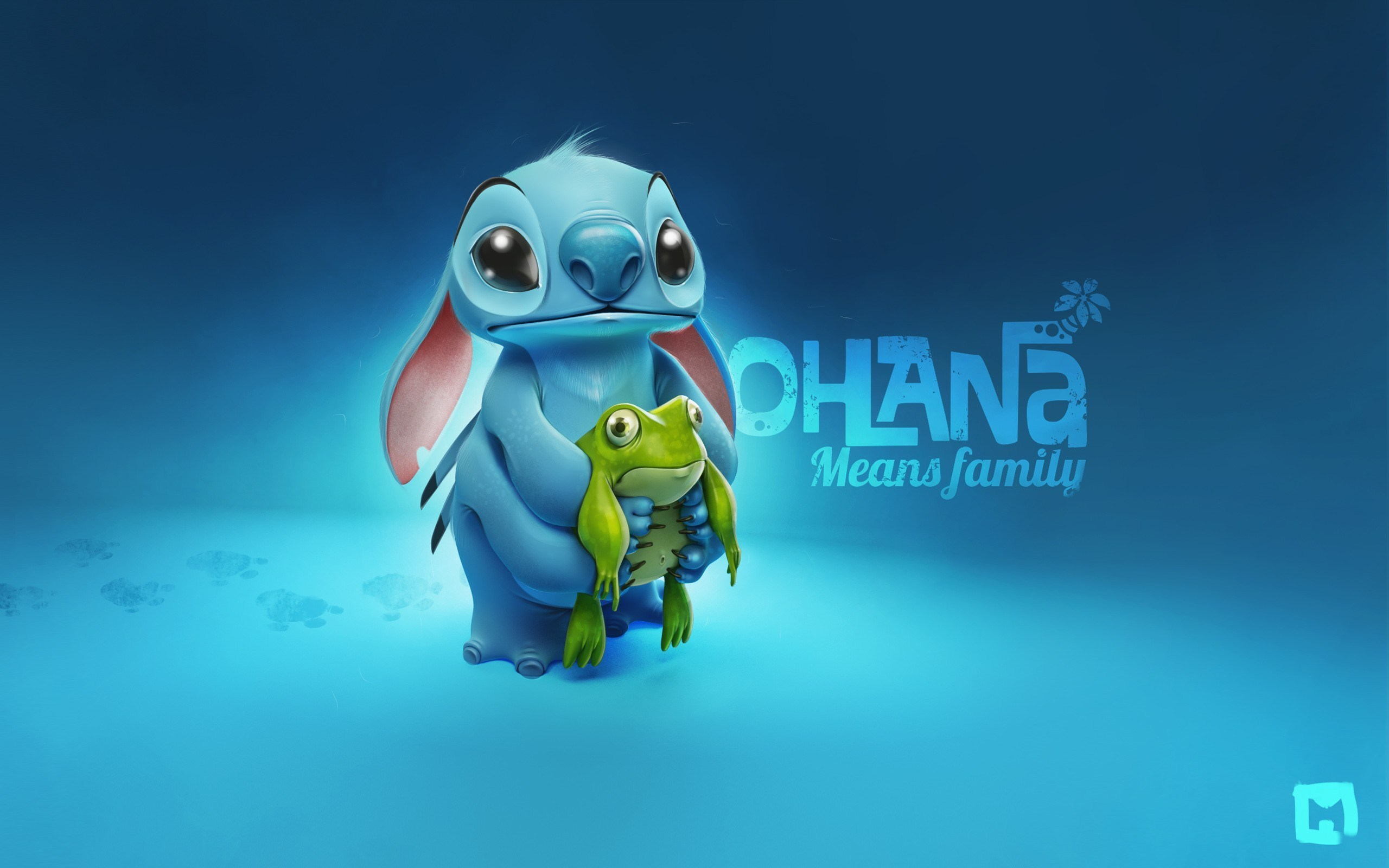 Stitch and Frog Cartoon