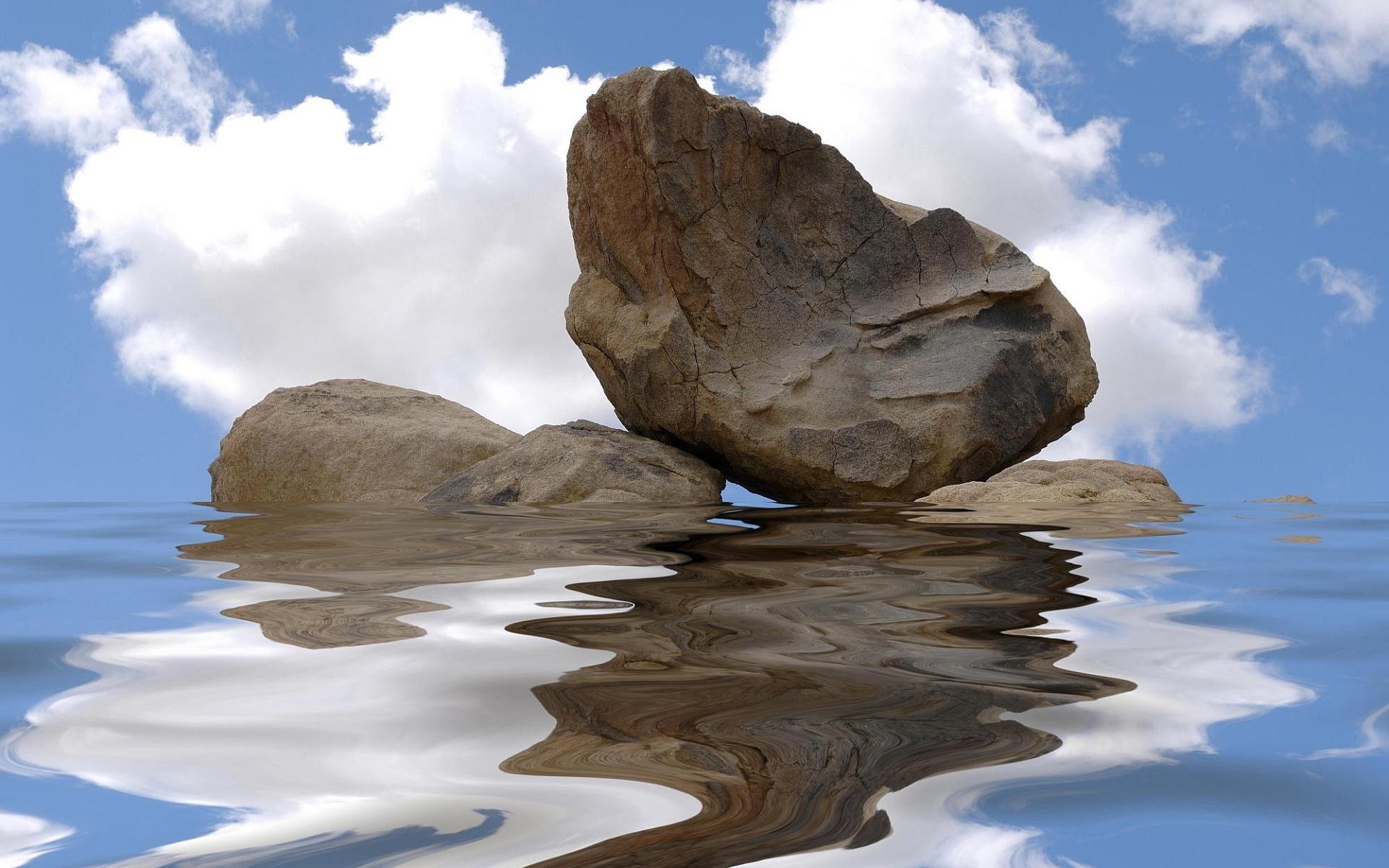 Stone water reflection