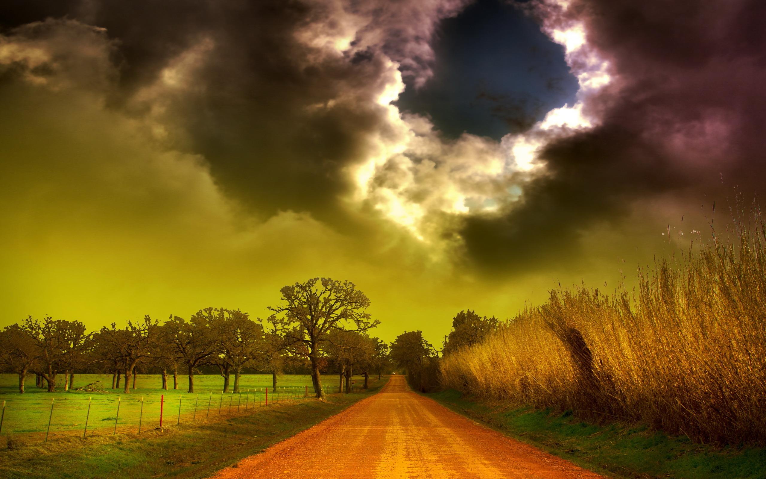 Storm Clouds Landscape