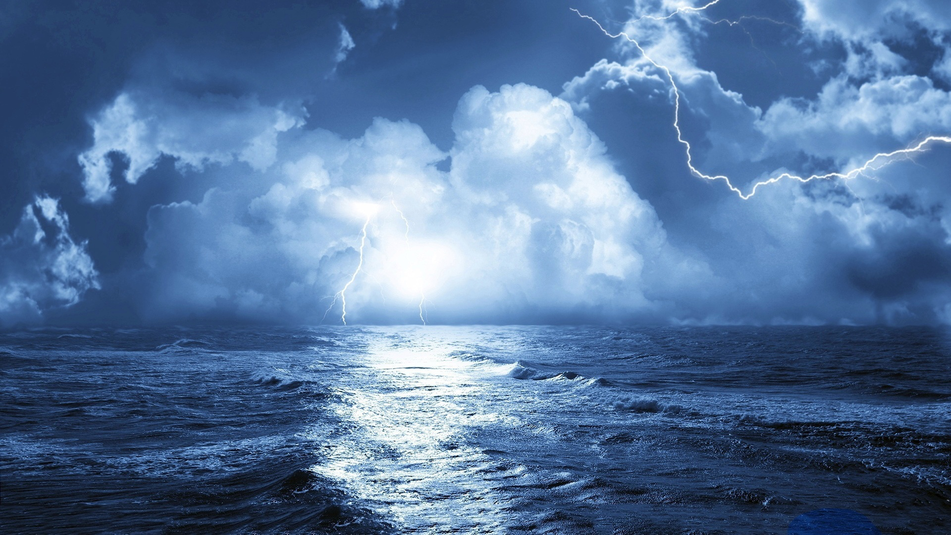 Storm over sea