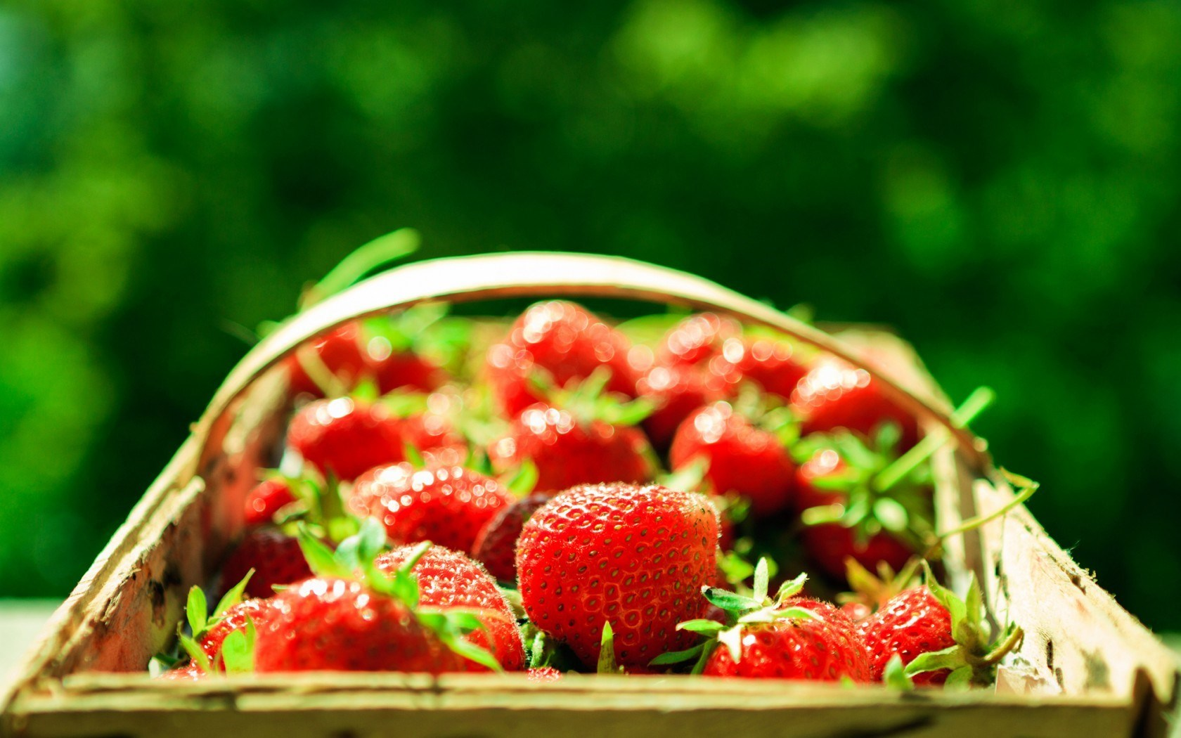 Strawberry Basket Berries Macro
