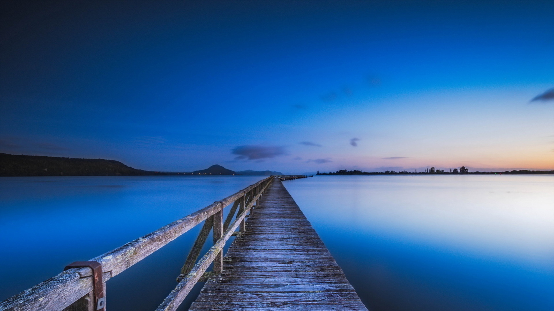 Stunning Blue Dusk Wallpaper