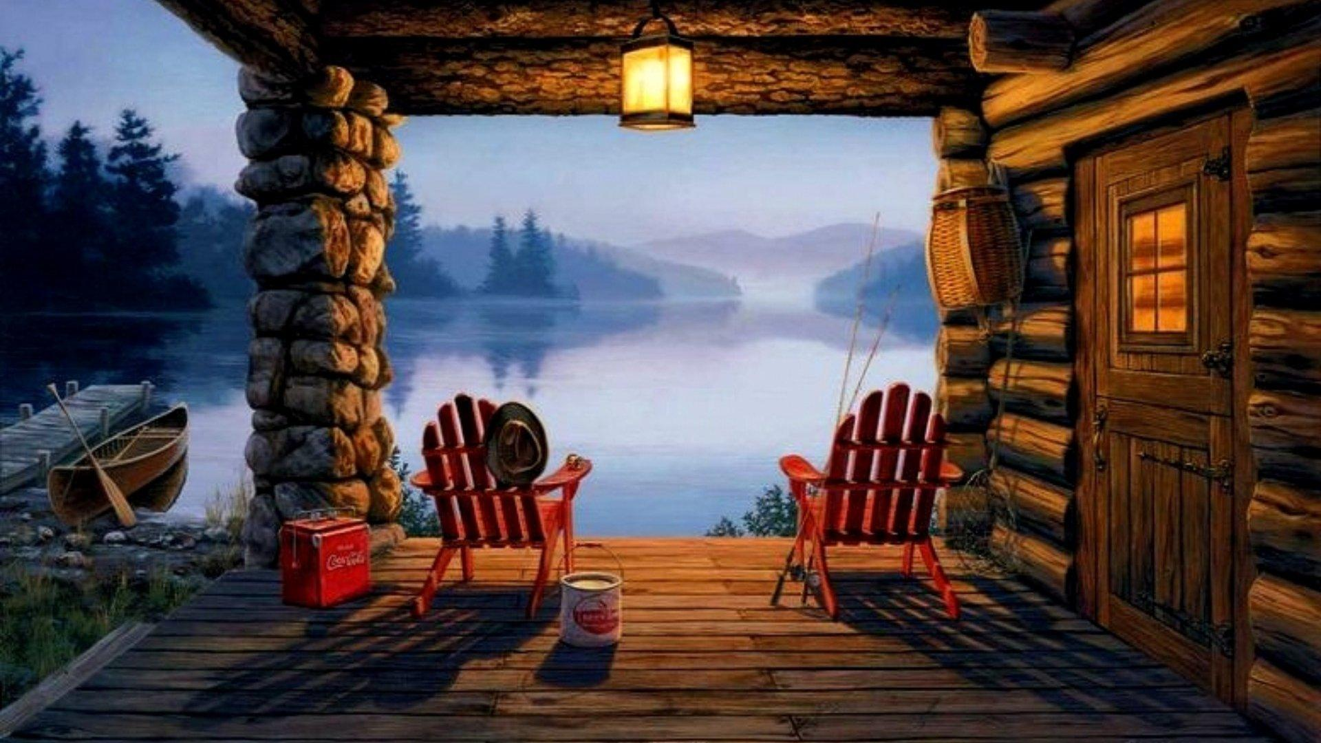 Stunning Cabin Wallpaper