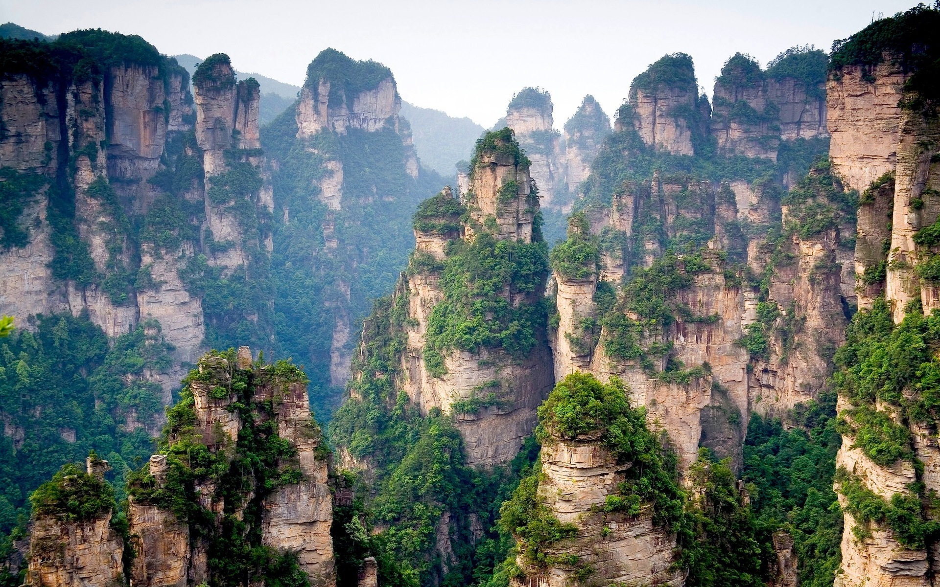 Stunning cliff pillars, China