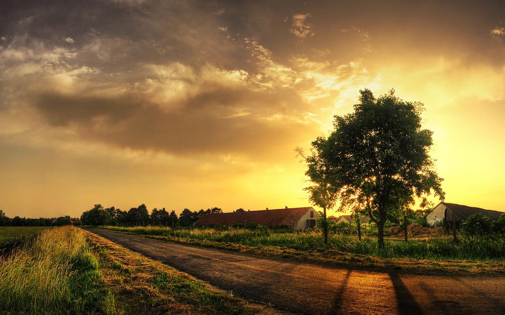 Stunning Landscape Sunset