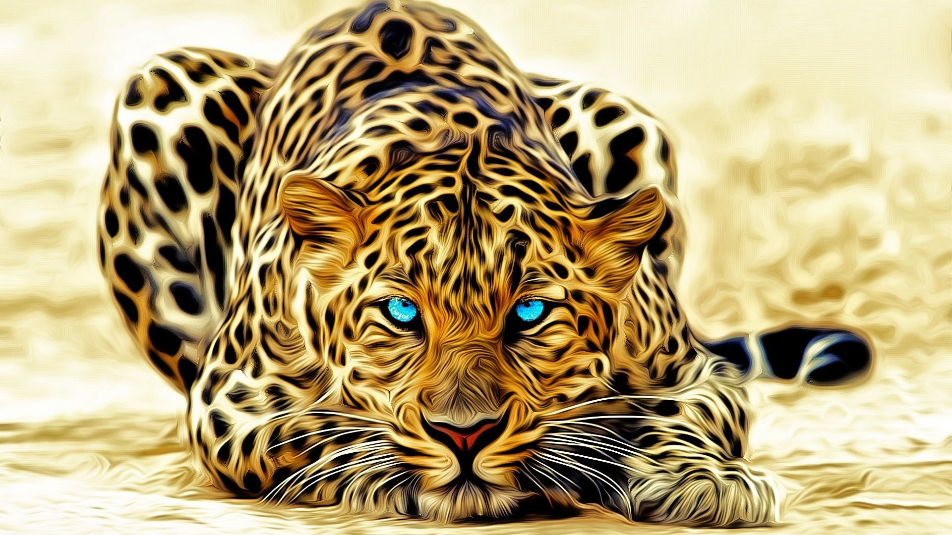Stunning Leopard Background