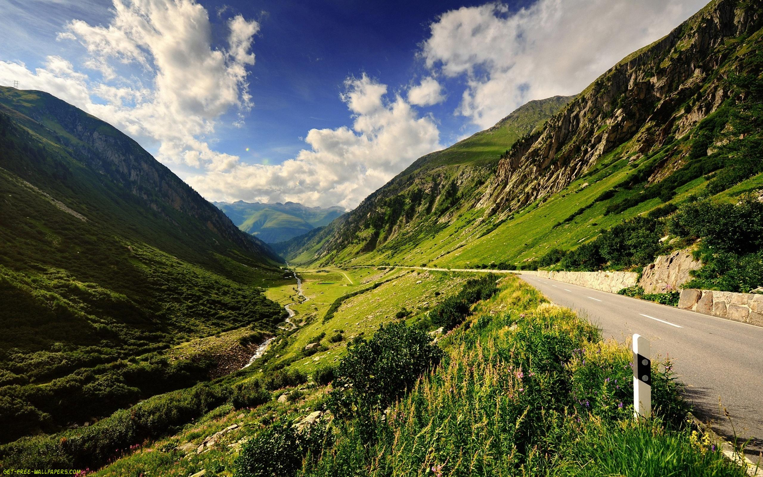 Stunning Mountain Road Wallpaper