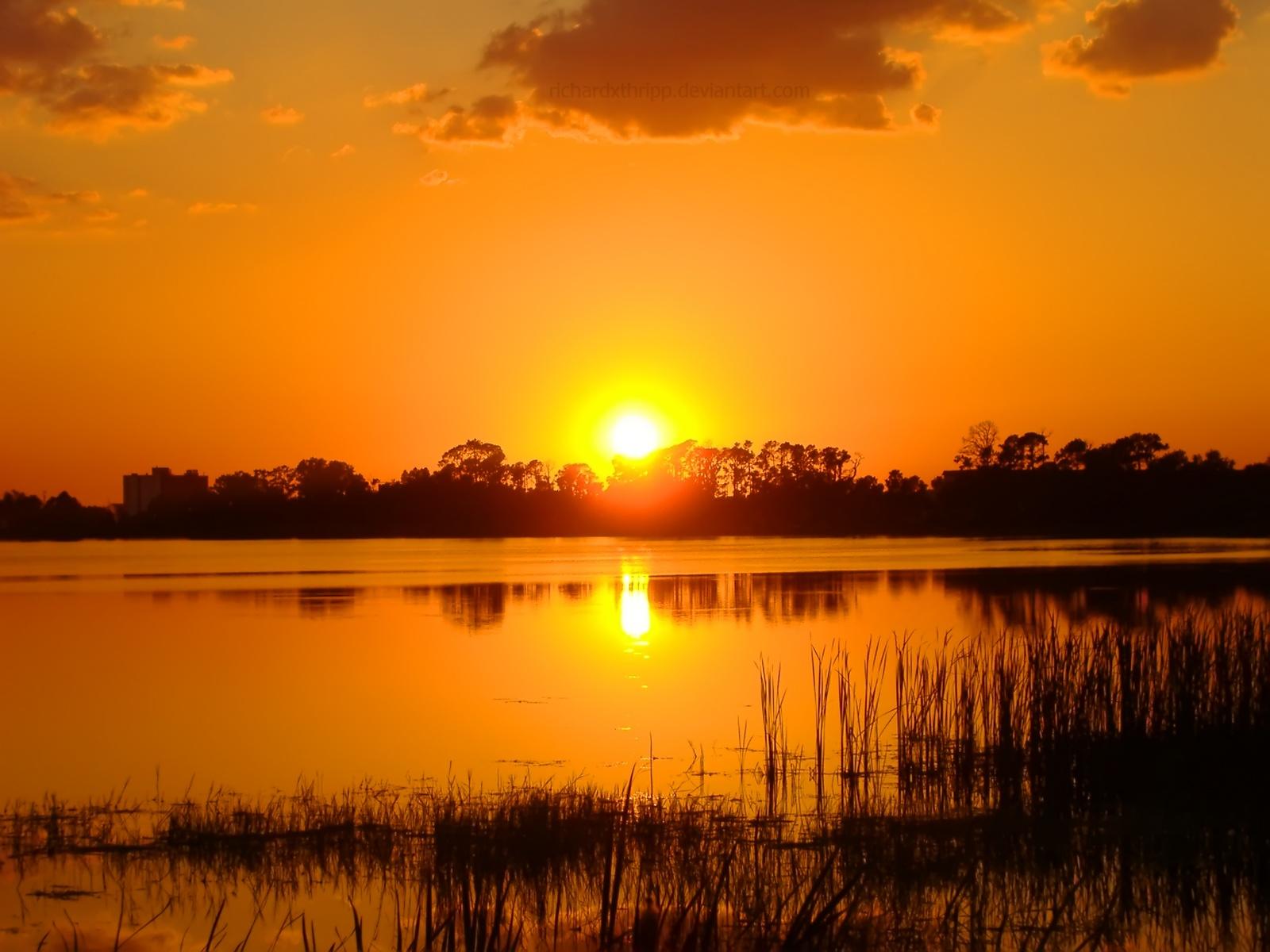 Stunning Orange Sunset