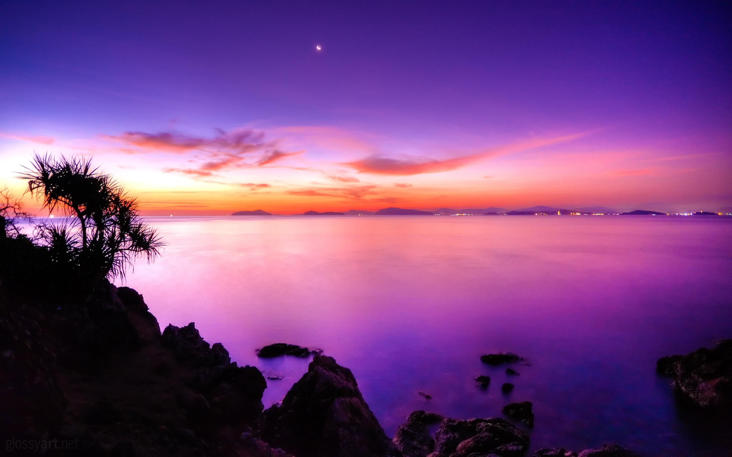 Beautiful Purple Dusk Wallpaper ...