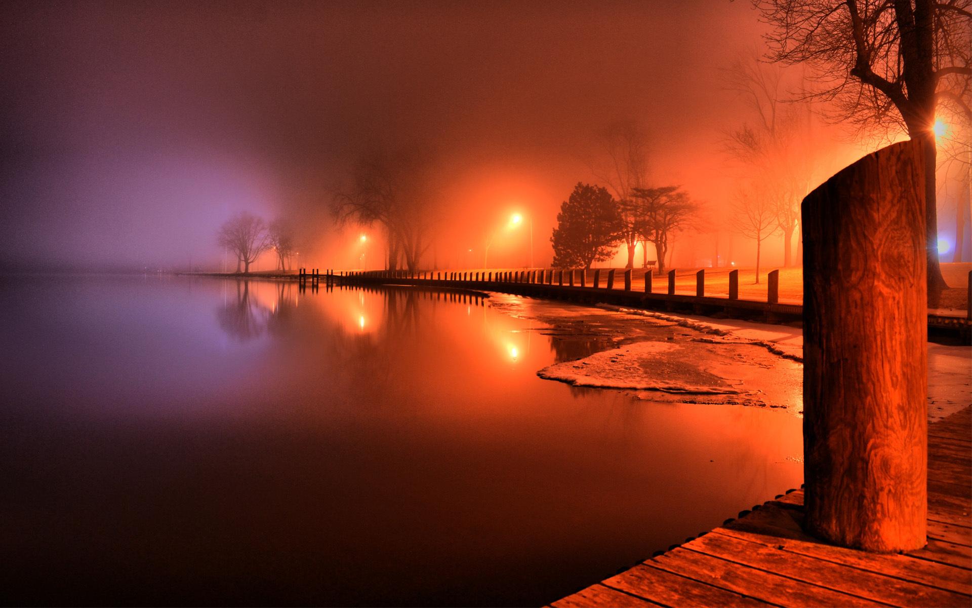 Stunning Shoreline Park Reflection HD wallpapers