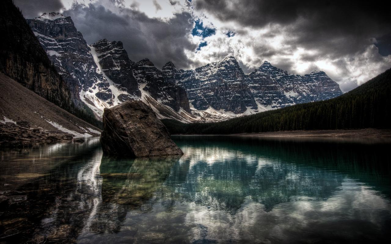 Stunning Mountain Lake Wide Wallpaper 1280x800px