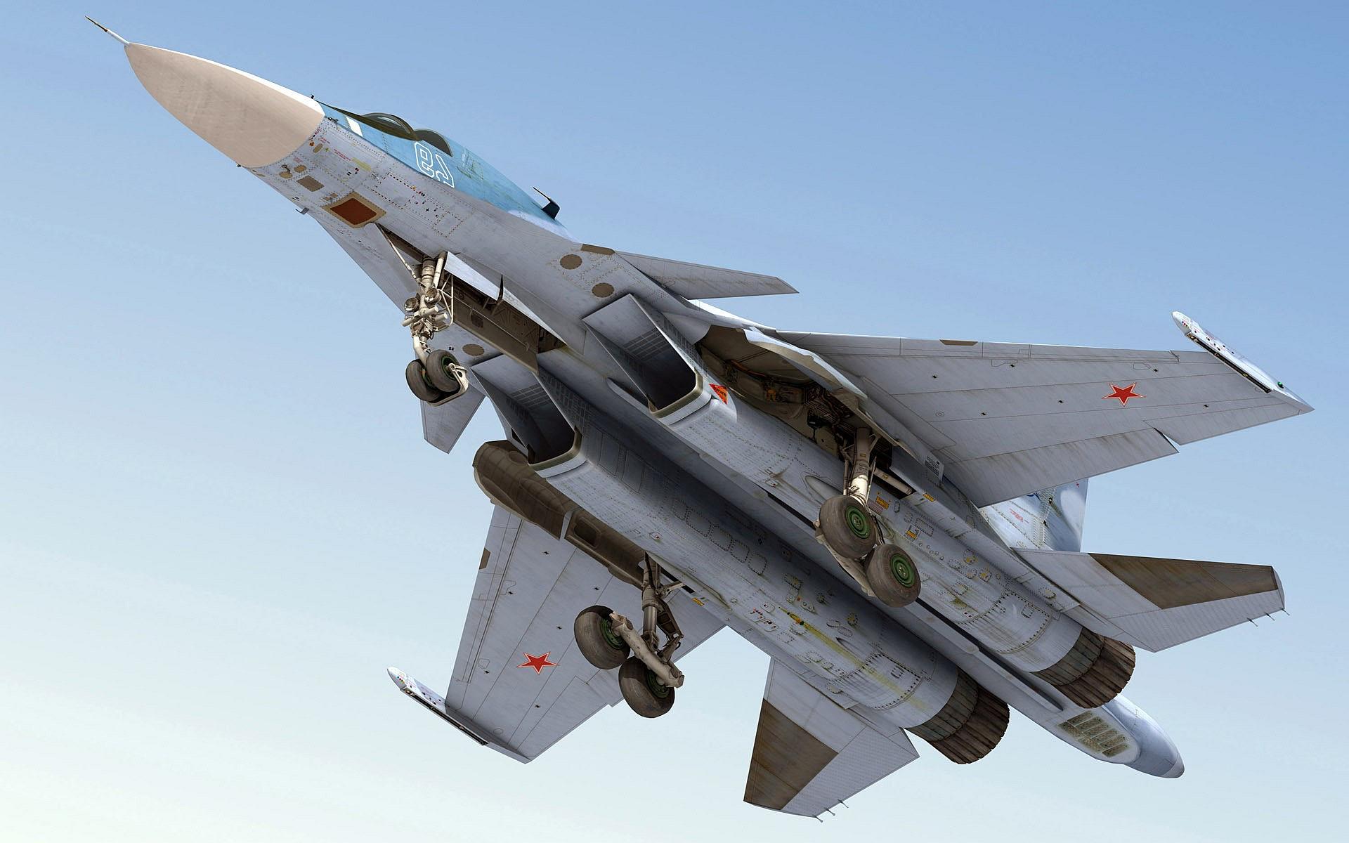 SU 34 Jet Fighter