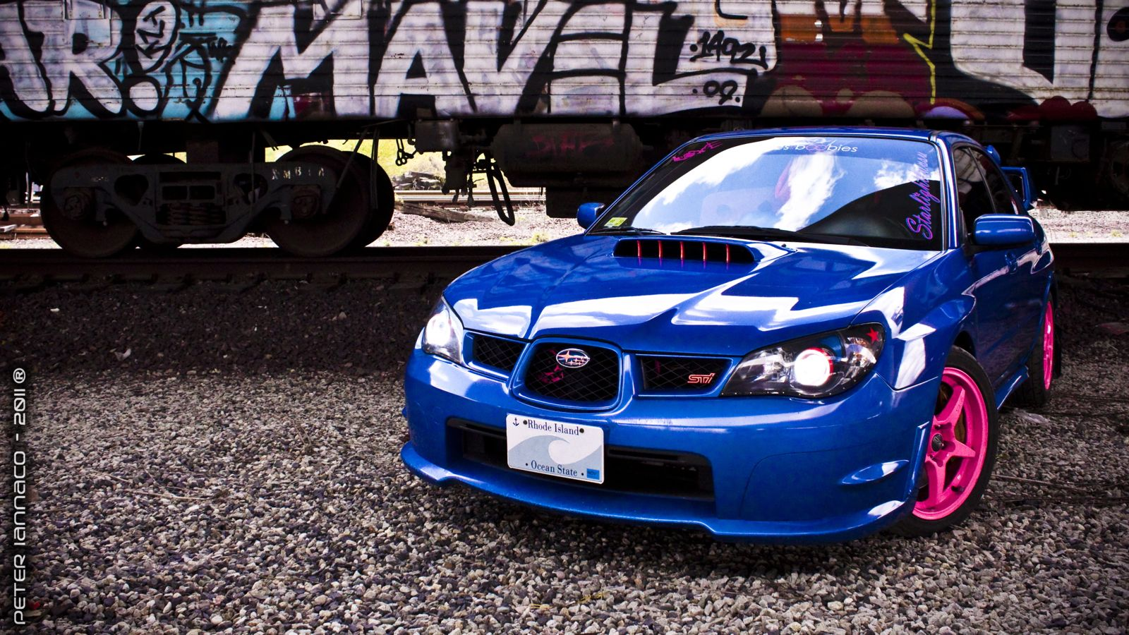 Cool Blue Subaru WRX STI