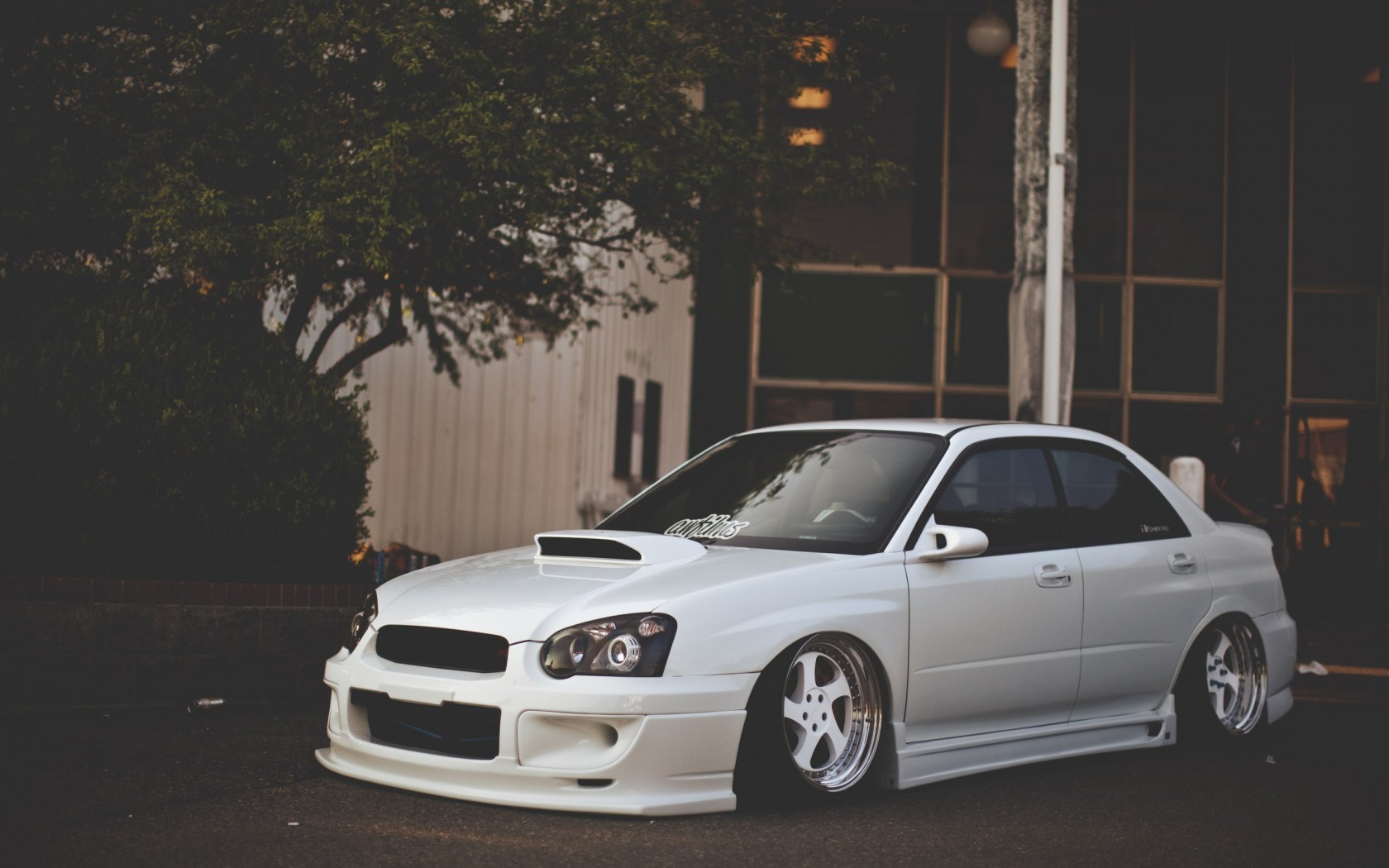 Subaru Impreza White Tuning Car