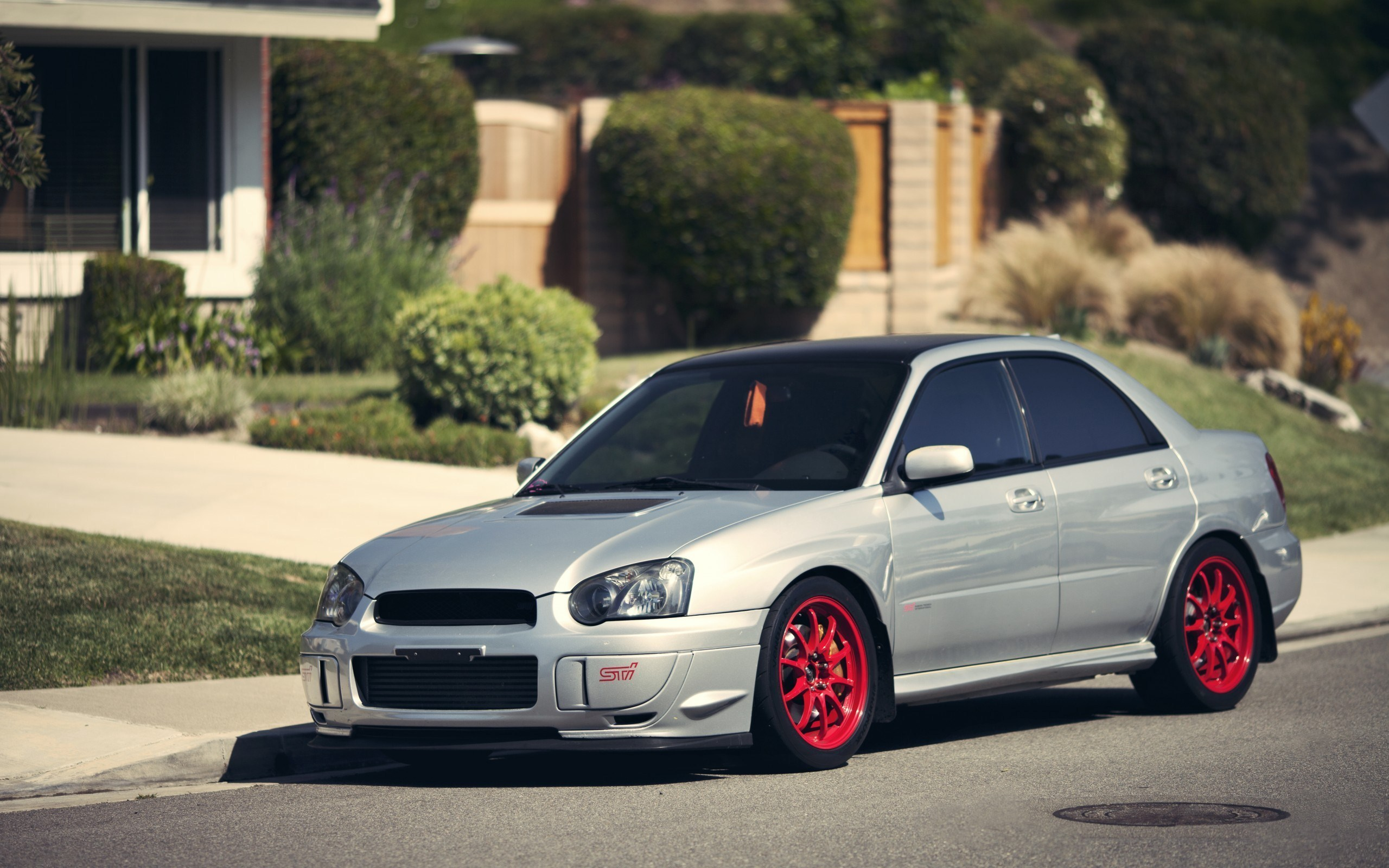 Subaru Impreza WRX STI Red Wheels