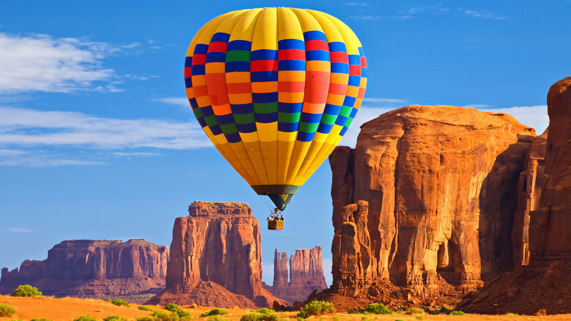 Summer hot air ballooning