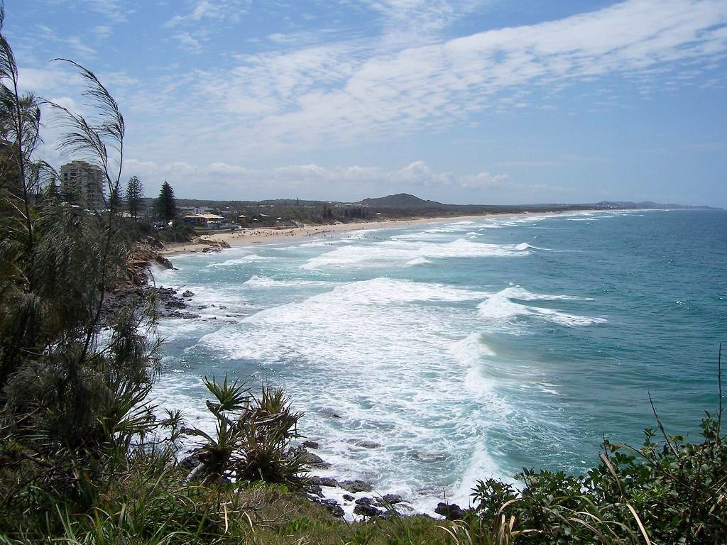 Coolum Beach, looking north