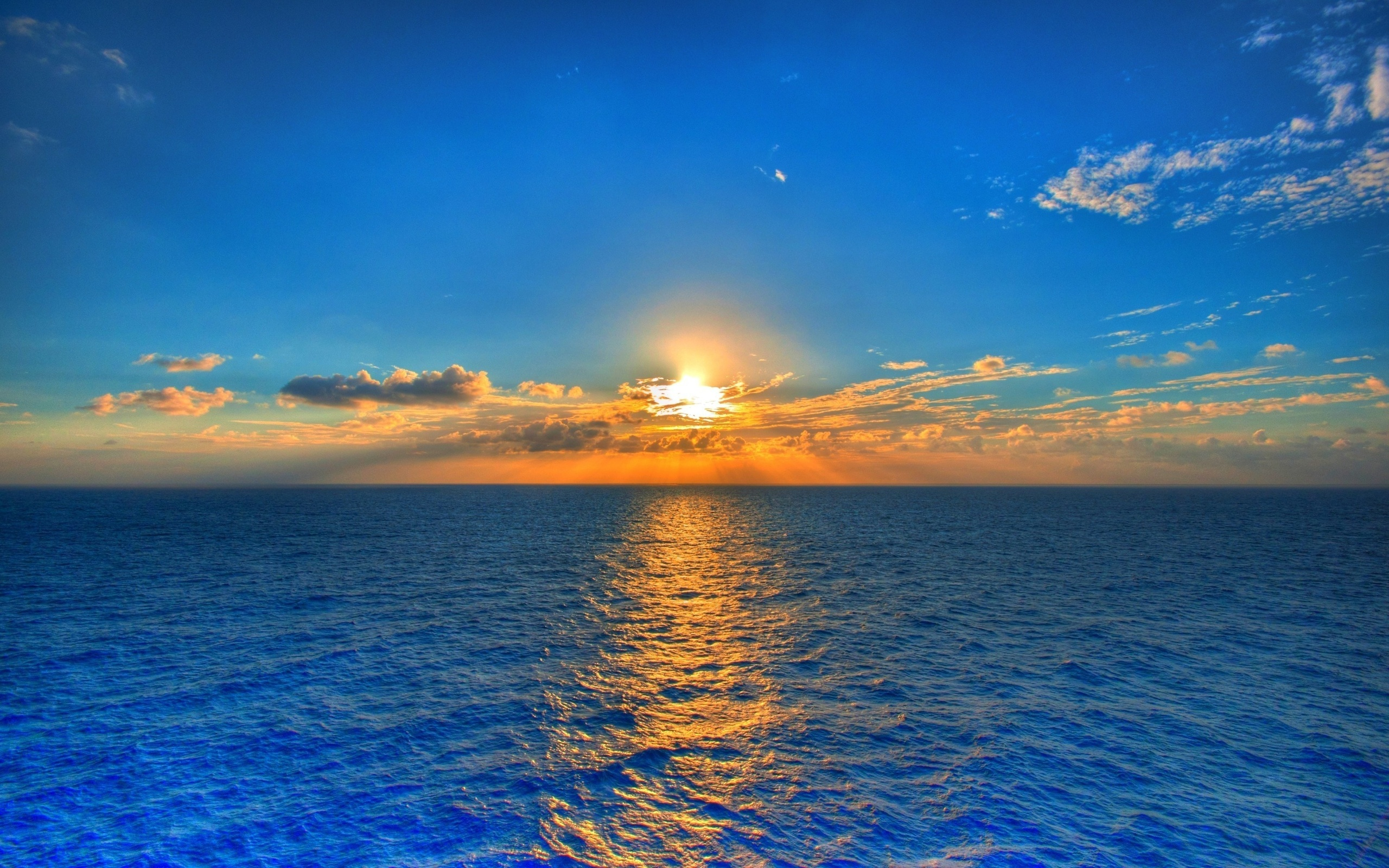 Sea Sunrise Sky Clouds Feed Wallpaper Hot Hd 2560x1600px
