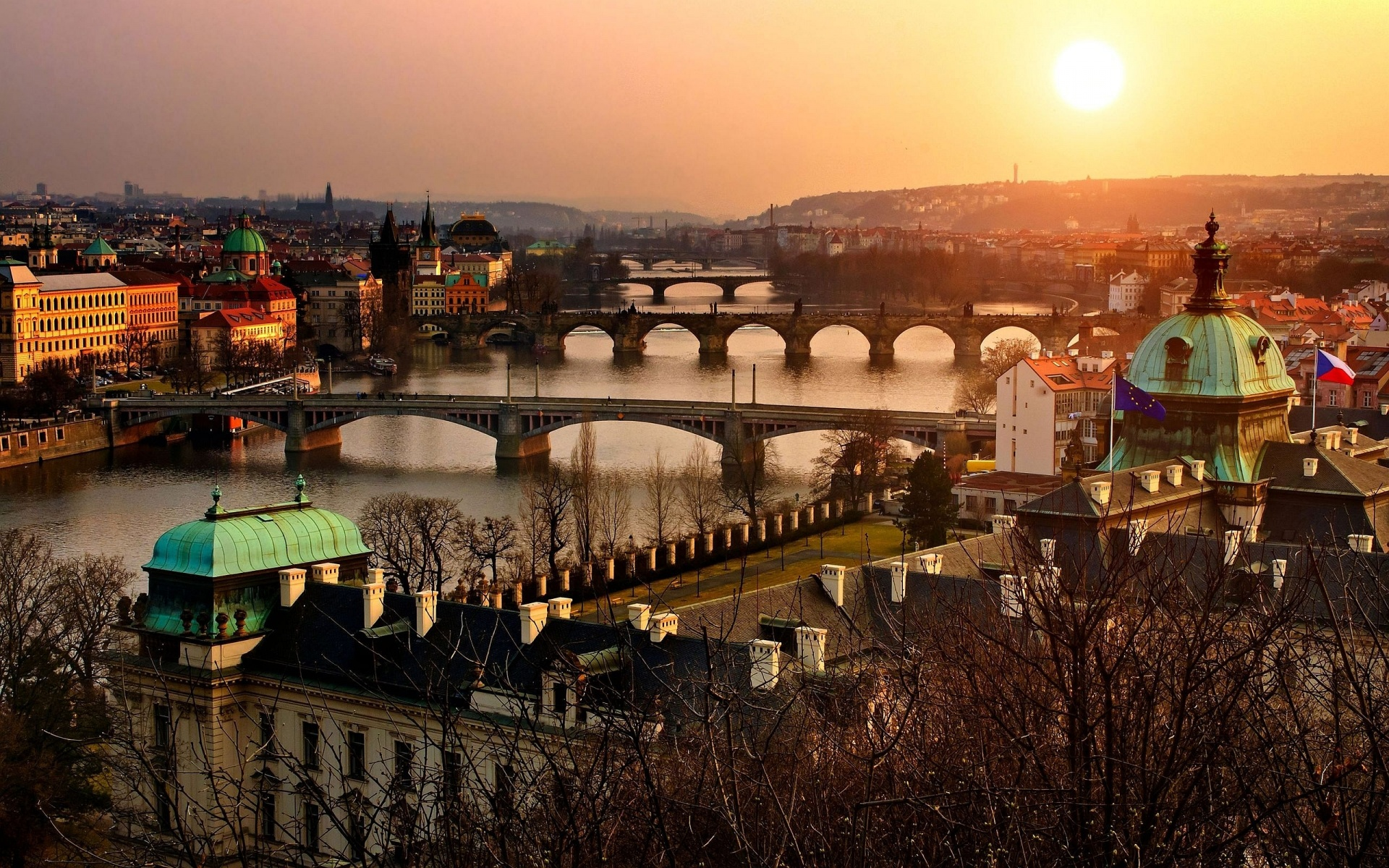 Sunrise in Prague