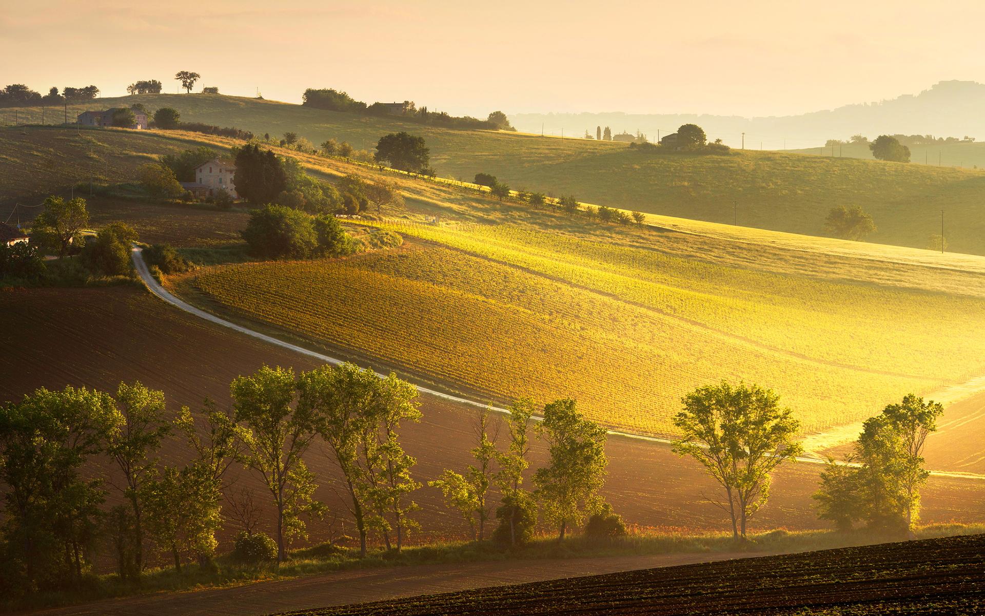 Sunrise italy landscape