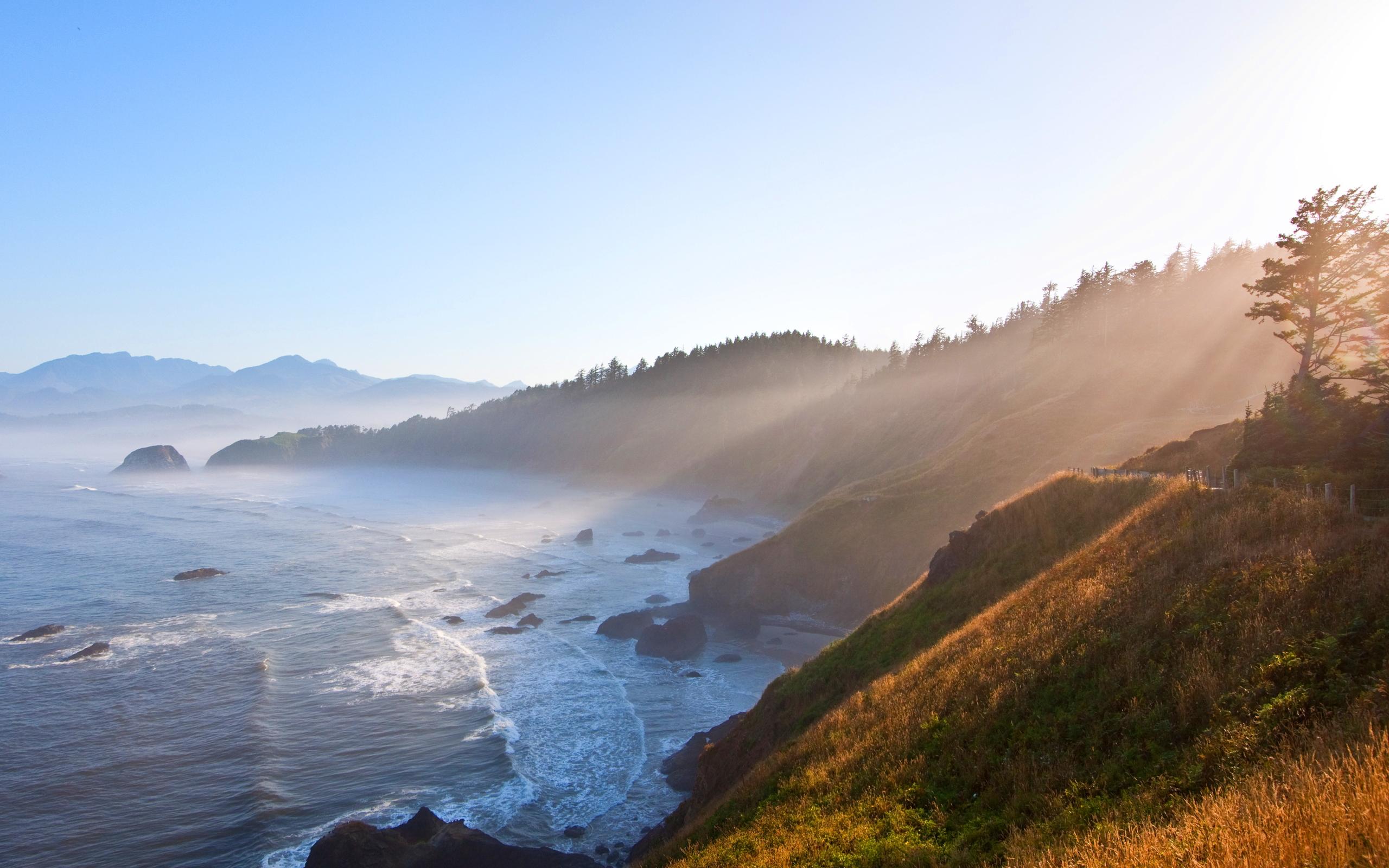 Sunrise morning coast