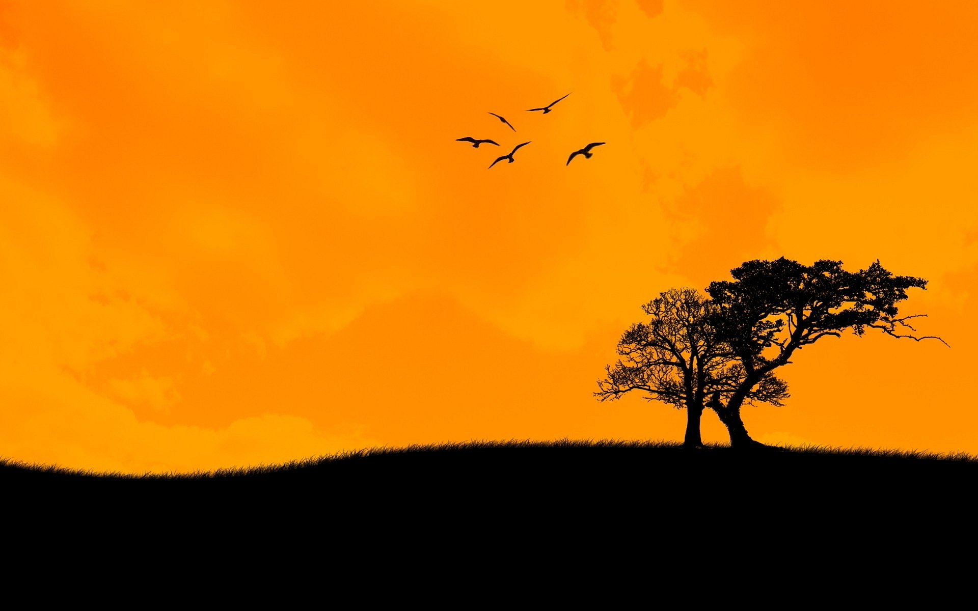 Sunset Art Background
