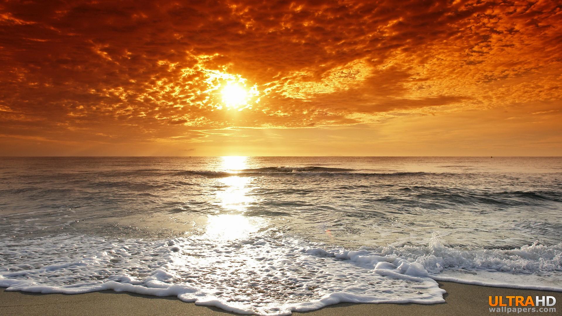 Sunset At Sea HD wallpapers